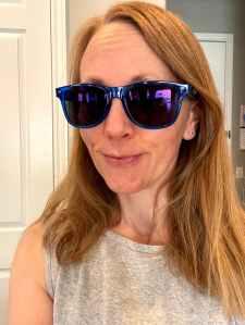 Jill wearing sunglasses